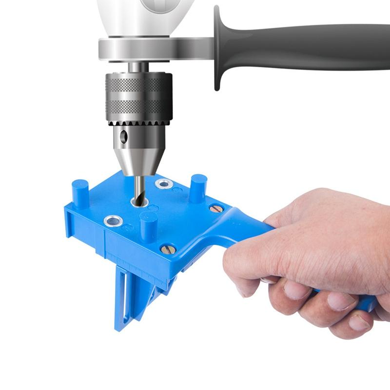 Woodworking Doweling Jig 6 8 10mm Pocket Hole Jig Handheld Puncher Drill Set Drill Drilling Carpentry Guide Locator Tool