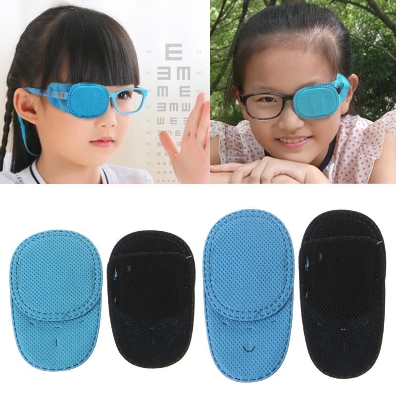 Gözlük Çocuklar Şaşılık Göz Tembelliği Eğitim Yamalar X7YA için 6adet Ambliyopi Göz Yamalar