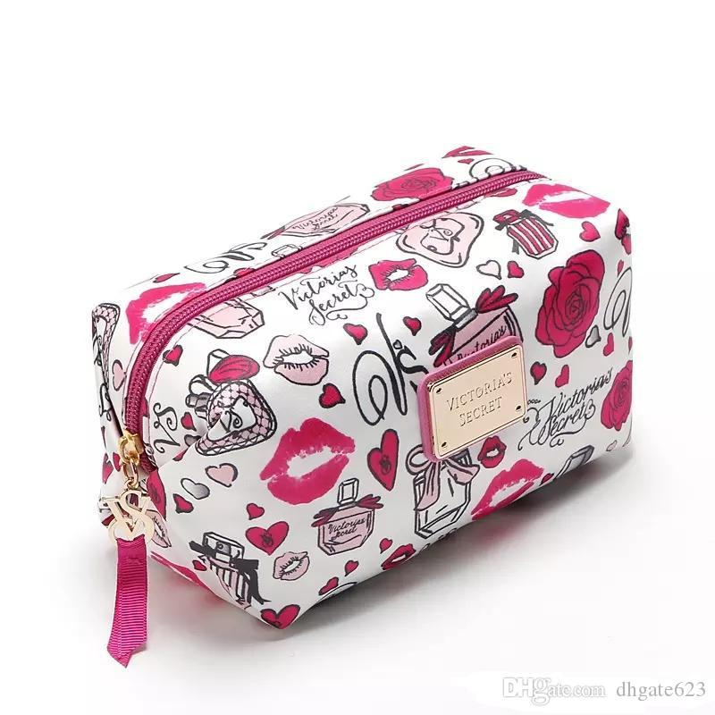 Pink sugao 2018 new style secrt print large capacity makeup bag cosmetic bags for travel storage organizer and toiletry bag