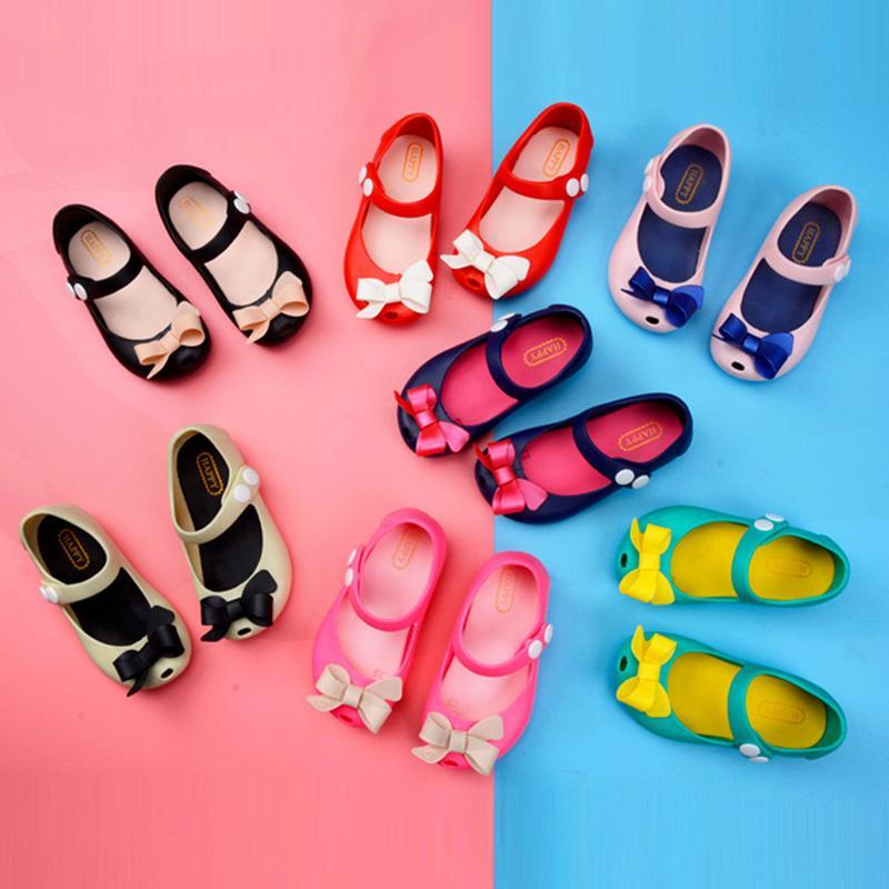 2020 키즈 베이비 여름 신발 아동 샌들 아기 소녀 공주 샌들 미끄럼 플라스틱 활 버클 젤리 1-6Years 신발