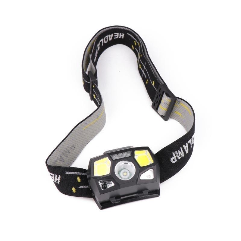 BRELONG lampe de poche LED phare, lumière rouge, détecteur de mouvement rechargeable USB pour la course, la randonnée, le camping et les enfants