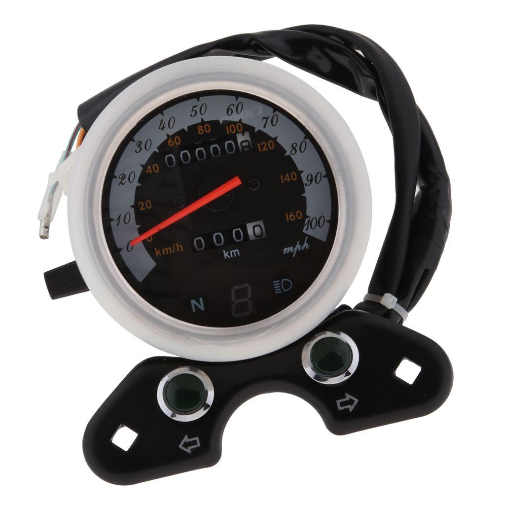 Motosiklet Kilometre Entegre ile Dişli Göstergesi, Tarafsız Dişli Işık Göstergesi, Sinyal Göstergesi çevirin