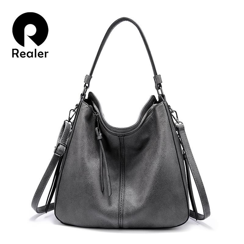 Realer femmes sacs à main sac bandoulière épaule classique femme grande capacité occasionnels totes sacs de messager de dames de haute qualité Y200623