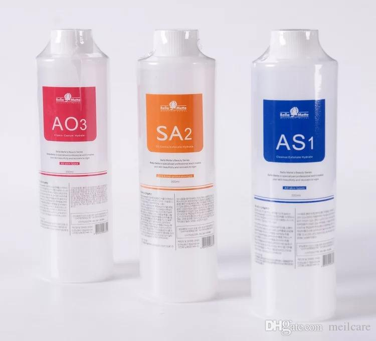 Aqua Peeling Çözüm 400ml Başına Şişe Hydra Dermabrazyon Yüz Temiz Yüz Temizleme siyah nokta İhracat Sıvı Repa AS1 SA2 AO3