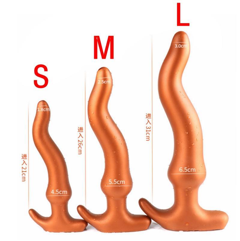 Anal Vagina Butt Plug Weiche Gay Dildo Männer Sex Silikon Masturbation Lange Riesenstecker Massage Für Spielzeug Prostata Frau Anal MOOUB
