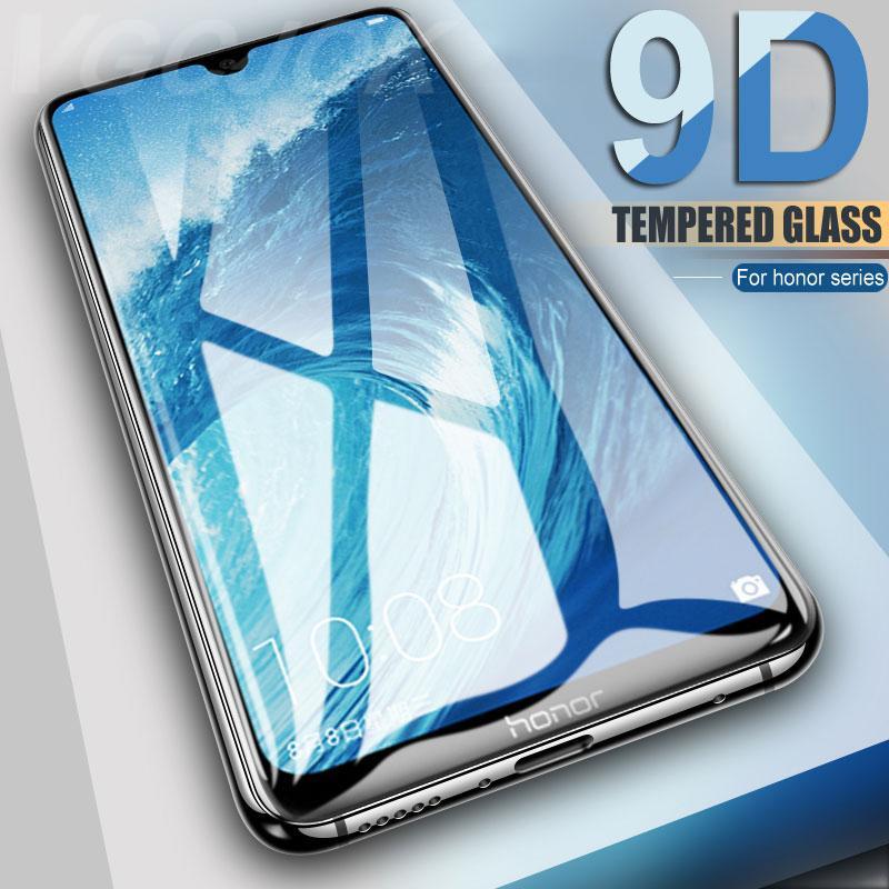 9D закаленное стекло на Для Huawei Honor 9 10 20 Lite 9i 10i 20i 8X 8A 8C 8S экран протектор Защитные безопасности