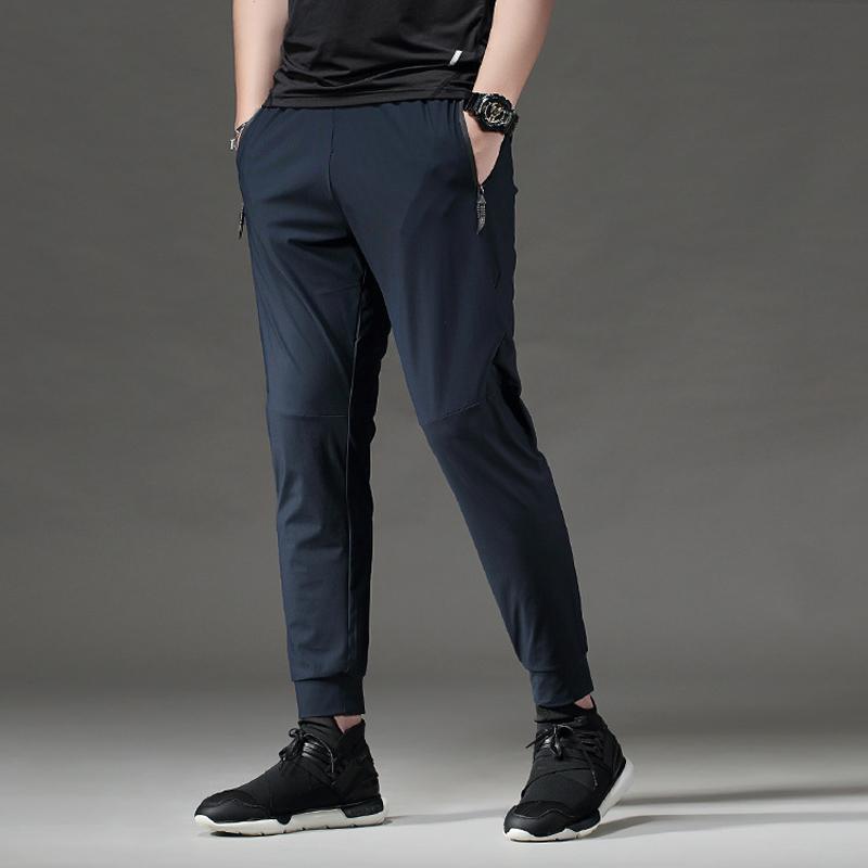 BINTUOSHI Pantalon course pour homme avec fermeture éclair poches des pantalons d'entraînement de formation jogging Fitness Pantalon Sport