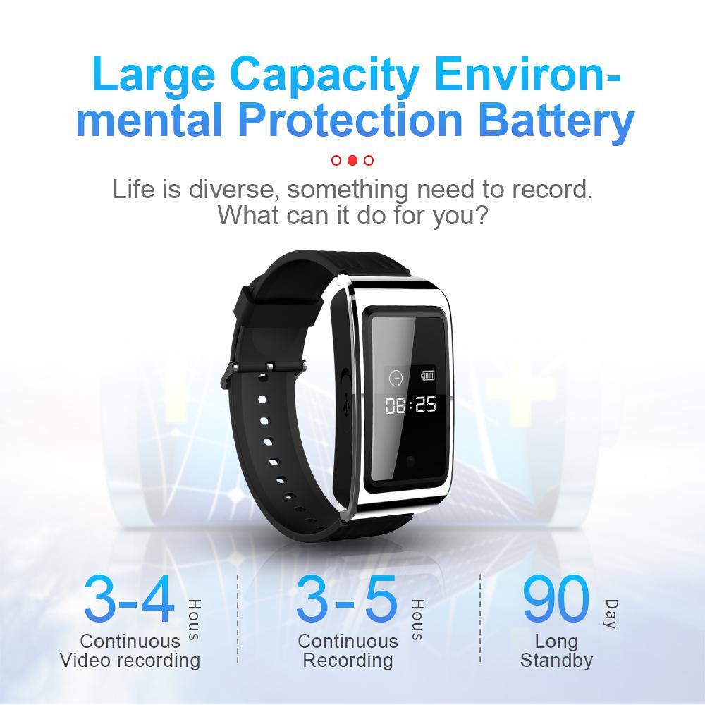 8GB 16GB 32GB relógio inteligente mini câmera HD 1080p inteligente pulseira câmera de vídeo Wearable Smartband gravador de vídeo e áudio com caixa retial