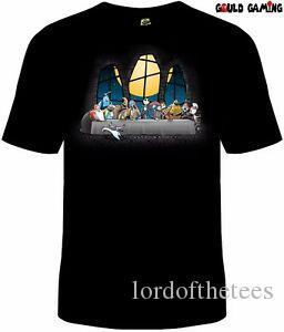 Nightmare Before Christmas Última Ceia T Shirt Unisex O-Neck Halloween Tamanhos Nova