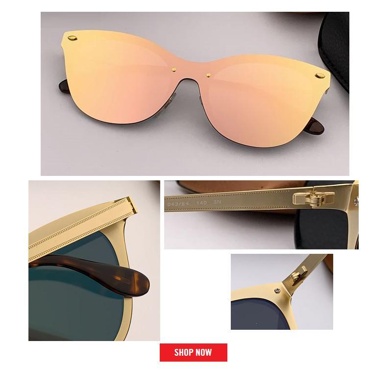 2019 new Fashion Trend cateye BLAZE Style Sunglasses Vintage Retro Brand Design Color Mirror Sun Glasses Women Oculos De Sol uv 400 gafas
