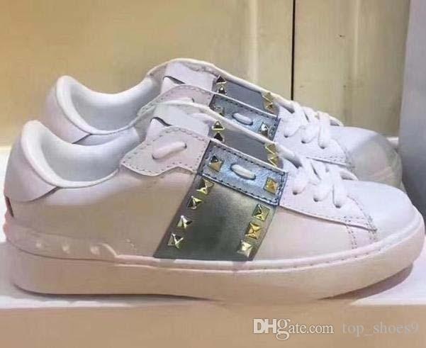 neue Lederschuhe für Frauen, Farbabmusterung Nieten Verzierung Freizeitschuhe, handgemachte flache Ferse Liebhaber Schuhe Mode Luxus designe m2 Fuß