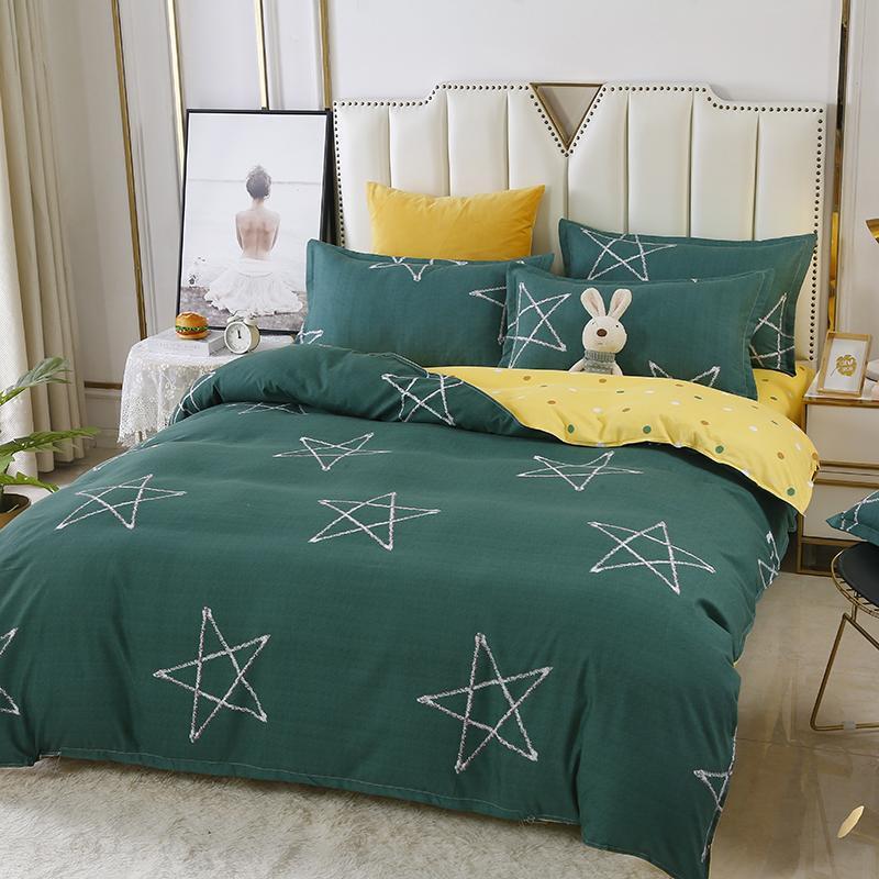 Biancheria da letto ispessita twill lenzuolo copertina federa impianto di cachemire, non pilling, nessuno sbiadisc, nessun restringimento, Pentagram