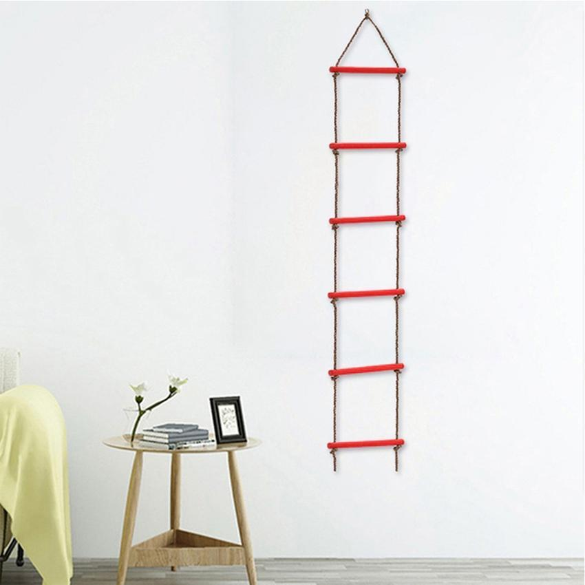 Children Climbing Toy Multi Rungs Kids Sport Rope Swing Indoor Outdoor Safe Fitness Toys 6 Rungs Rope Ladder ZZA2358 Ocean Shipping