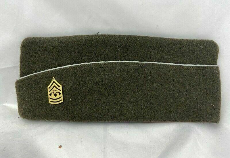 tomwang2012. WW2 nous Officier Armée Garrison Cap Usmc Marine Corps sergent-major Rang d'or