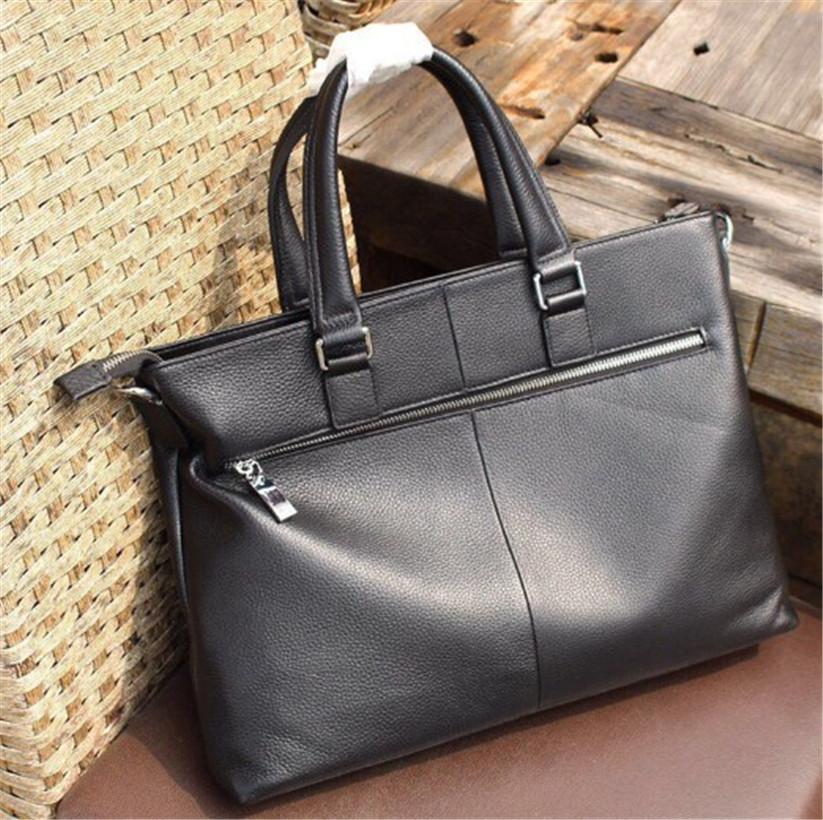 Design di lusso in pelle borsa degli uomini di alta qualità di stile di Borse di caso di modo buona partita Attache grande capacità di Newset Handsome formale 4