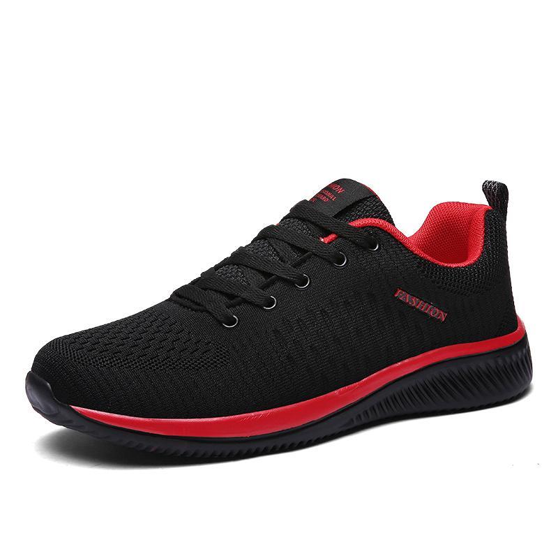 Yeni Örgü Erkekler Rahat Ayakkabılar Lac-up Erkek Ayakkabı Hafif Rahat Nefes Yürüyüş Sneakers