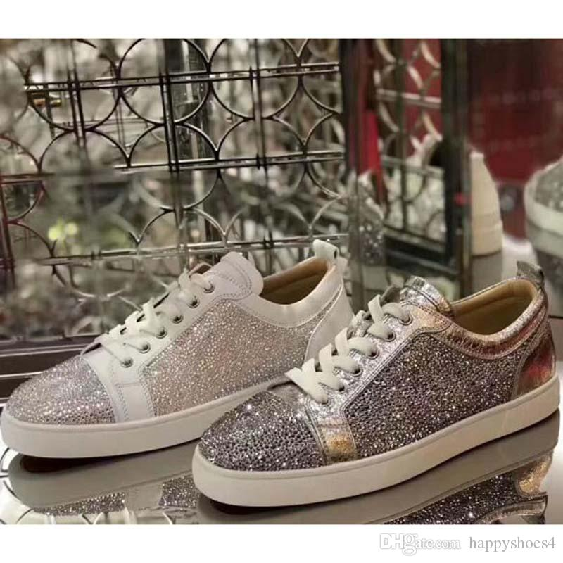 Sneakers Casual Low Top Bas Red Spikes ongles Flats Chaussures Hommes Femmes en cuir suédé Party sneakers K7
