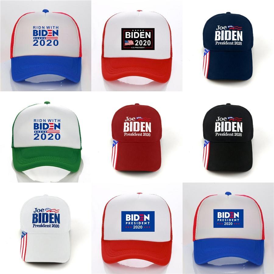 Biden Chapeaux Lettre broderie Keep America Great 2020 Donald Biden Casquettes Sports de plein air Chapeaux Mode Hha-1134 # 408