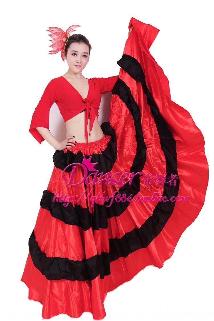 GStds spectacle d'ouverture gros ventre vêtements corrida espagnole danse du ventre vêtements tauromachie espagnole costume jupe grande ouverture jupe