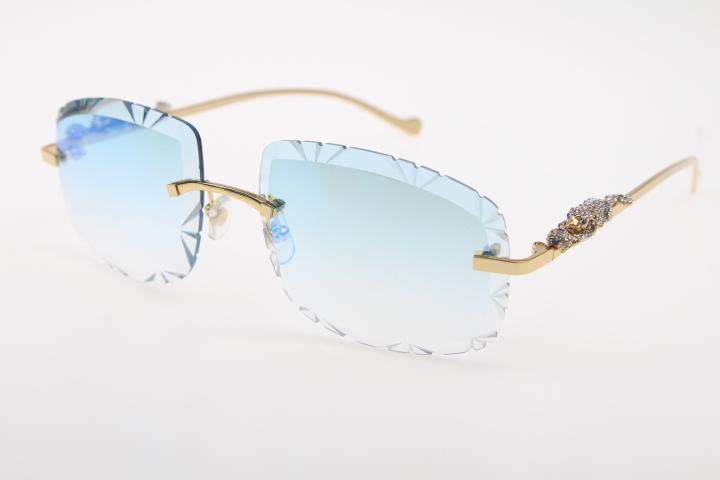 النظارات الشمسية أزياء للرجال 2020 النظارات الشمسية للجنسين سائق T8200761 سلسلة الفهد الماس نظارات شمس جديد بدون إطار نظارات الساخن للجنسين