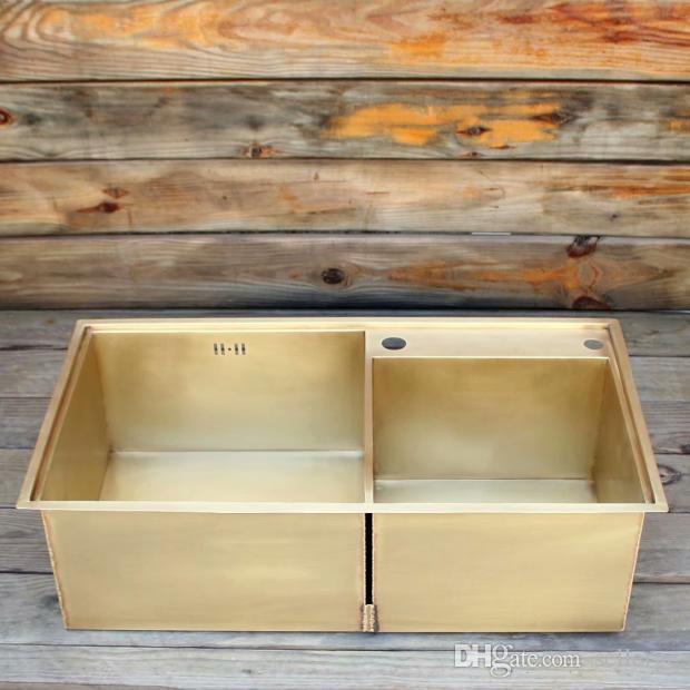 2019 Smooth Surface Brass Kitchen Sink Undermount Kitchen Sink Brass Double  Kitchen Sink From Sellergc, $1023.12 | DHgate.Com