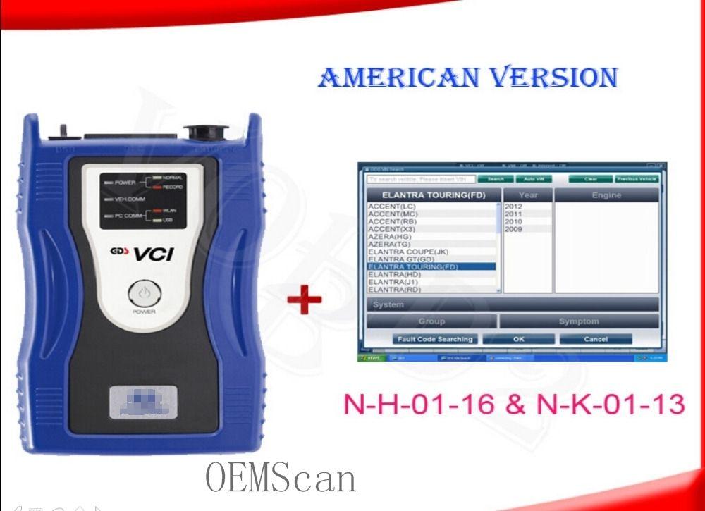 Original hyun-dai ia gds vci com a versão americana n-h-01-16 e n-k-01-13 sem wifi para gds vci