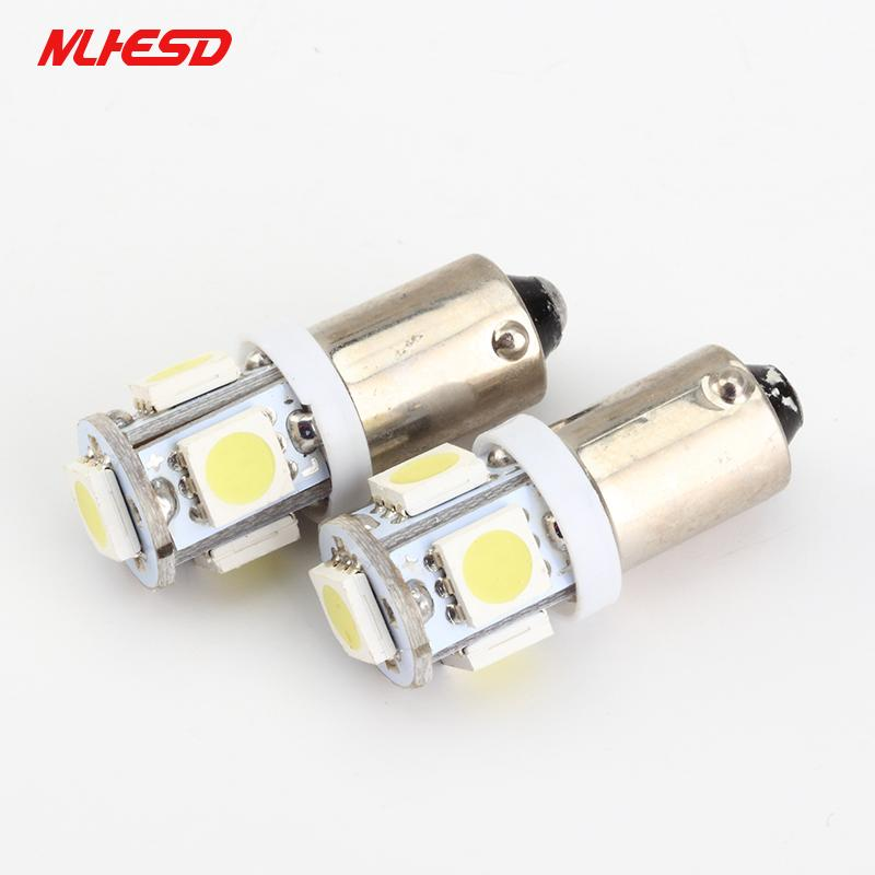 100PCS 자동차 LED 조명 실내 전구 BA9S 5 SMD 6V 6.3V 슈퍼 밝은 독서 빛 역 자동차 전구