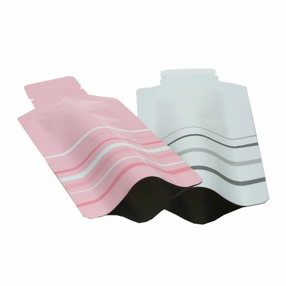 Open Top Алюминиевая фольга Упаковка Мешок Heat Seal Вакуумные мешки Майларовый Фольга Упаковка Мешки для кофе Специи Сахар Закусочная хранения 2 Размеры Доступные