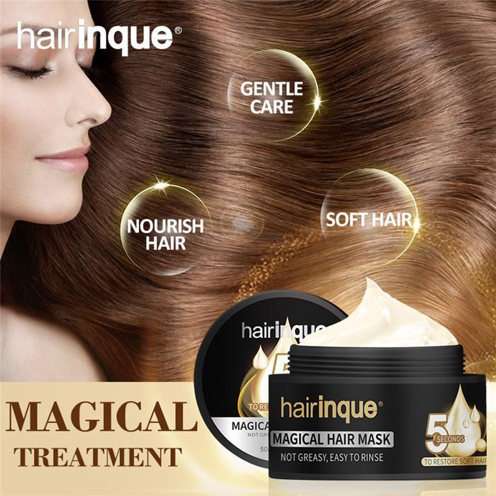 Прическа 50 мл Волшебная лечение Маска для волос Увлажняющие Питательные 5seconds Ремонт Урожай волос Восстановить Мягкий Уход за волосами Маска 6 шт.