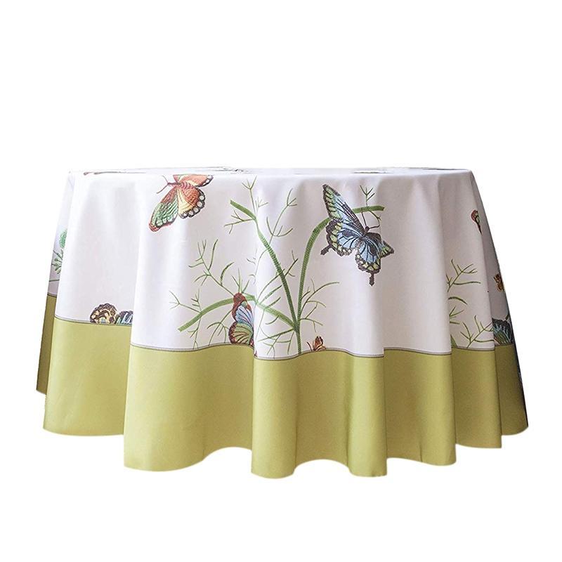 Farfalla decorativa Stampa Water Resistant Tovaglia ruga libero e resistente alle macchie Tessuto Tovaglie