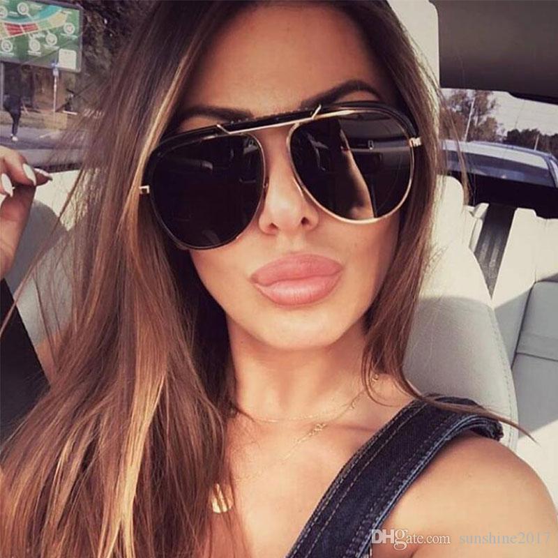Kadınlar Seksi óculos için büyük boy Güneş gözlüğü Kadın Moda siyah Yaz Gözlük Tasarımcı Lüks Pilot Güneş Altın Siyah Gölge