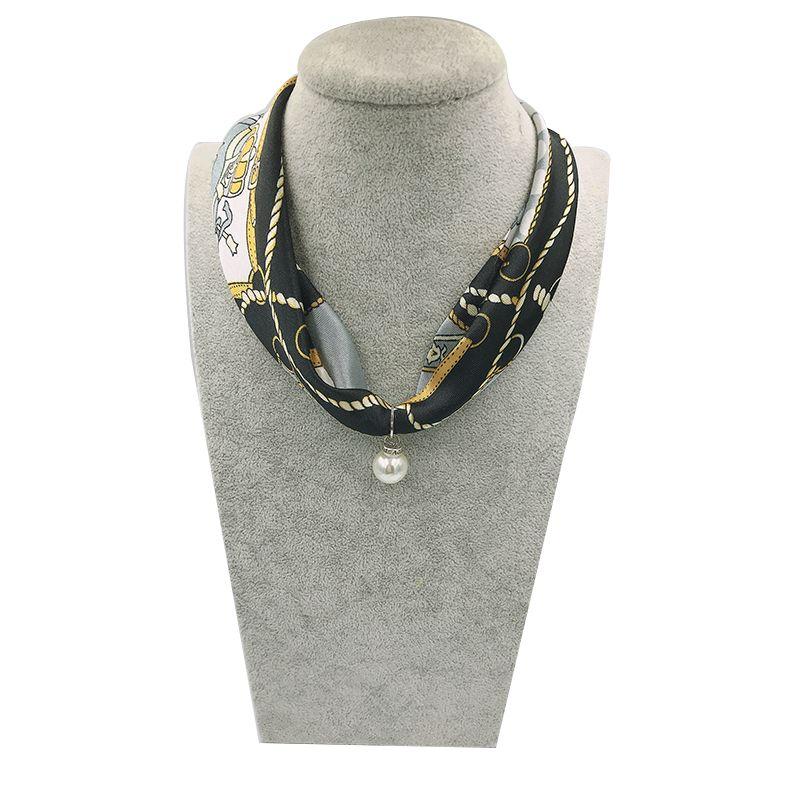 Boemia Collana Han Jing Multi-colore gioielli Dichiarazione donne sciarpa del fazzoletto da collo Foulard Femme Accessori