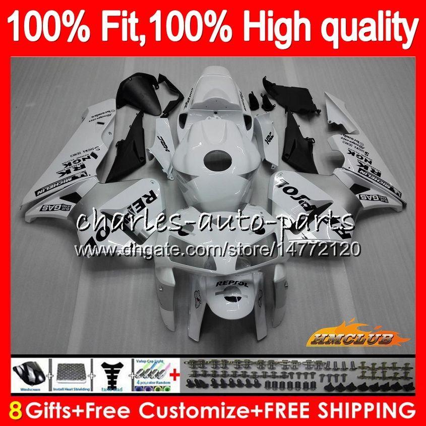 Injektions Repsol weiße Form für HONDA CBR600RR CBR600 RR 2005 2006 80HC.11 CBR600F5 CBR 600F5 600RR 05 06 CBR 600 RR F5 05 06 Verkleidungs OEM