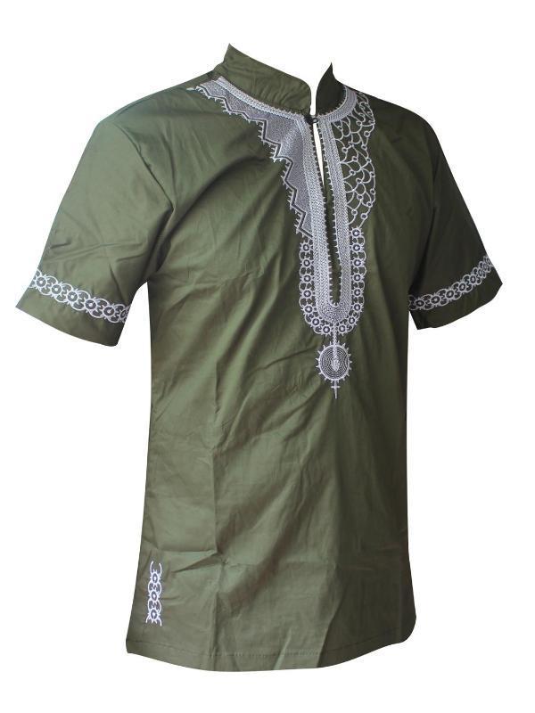 Ethnic Clothing Dashikiage African Man Casual Top Kwanzaa Embroidery Dashiki Summer Men's T-shirt