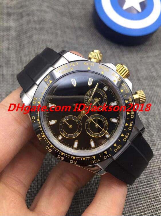Envío gratis Relojes de lujo Sin cronógrafo Trabajar cerámico bisel de cerámica 40mm correa de goma Moda automática Reloj Reloj de reloj de reloj