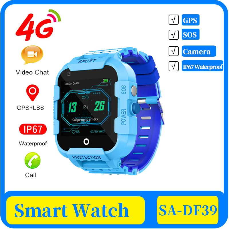 50x 4g kids Smart Watch GPS Tracker IP67 Waterproof Video Call Camera GPS LBS WIFI Location 4g Watch Smartwatch Kids Gift Clock