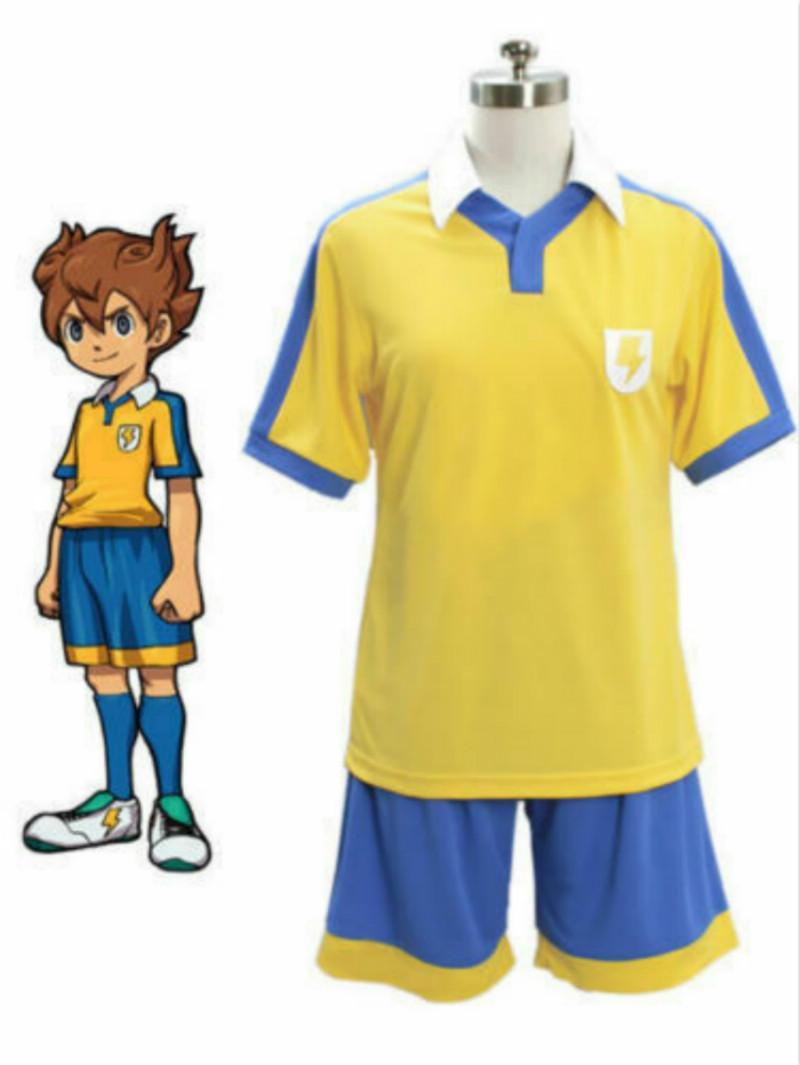 Estate giapponese Anime Inazuma.Eleven.Go Cosplay maglia da calcio