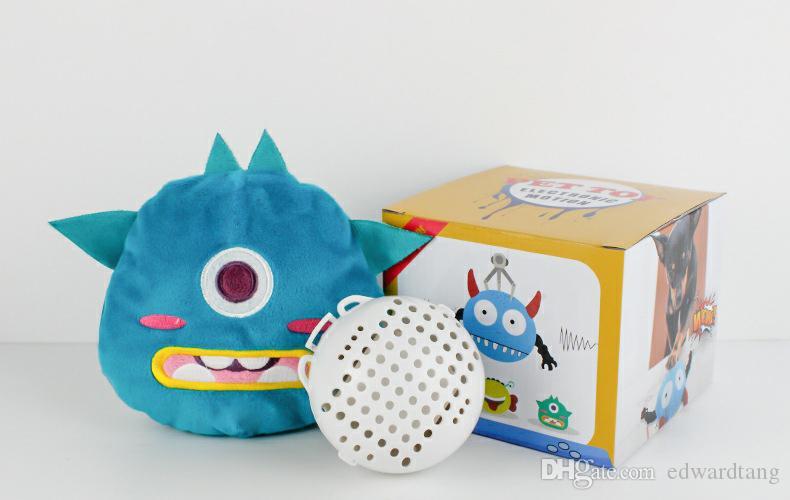 Elétrica monstro pequeno bonito Plush Toy, Animal dos desenhos animados, Vibrar fazer um som Balls, Pet Dog Toys, para ornamento, Xmas Kid presente de aniversário, 2-2