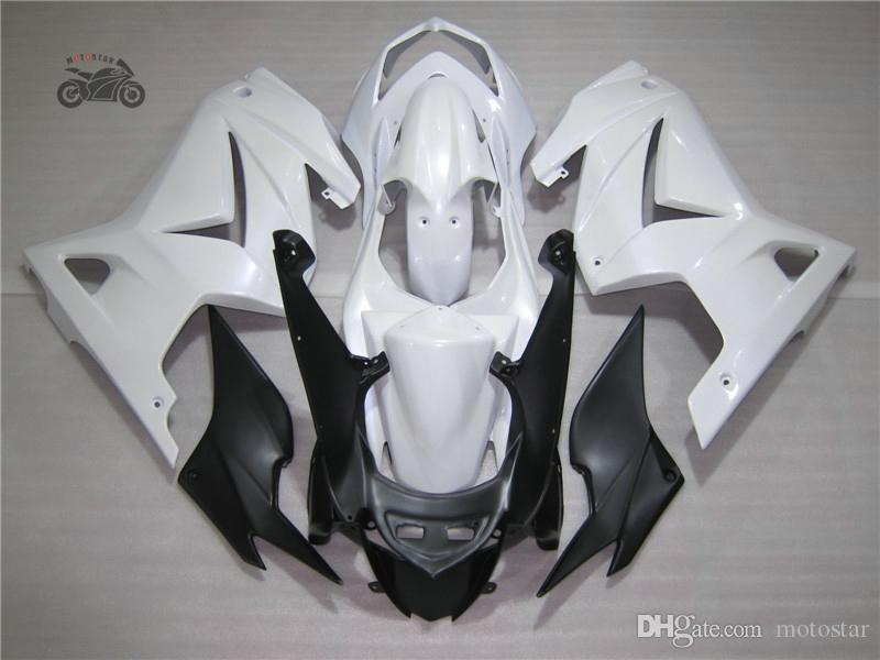 Kit de feiras de molde de injeção para Kawasaki ninja 250 ZX250R ZX 250R 2008 2009 2010-2014 EX250 08-14 ABS plástico branco conjunto de carenagens