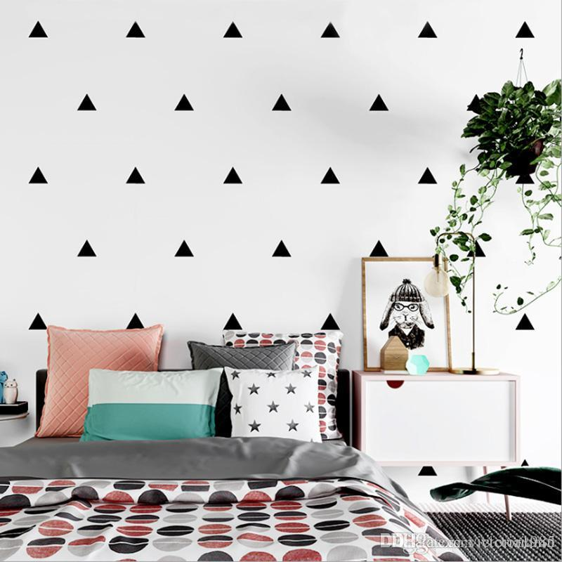 Baby Boy Room Little Triangles 6*6cm 18 DotsWall Sticker For Kids Room  Decorative Stickers Children Bedroom Nursery Wall Decal Stickers Space Wall  ...