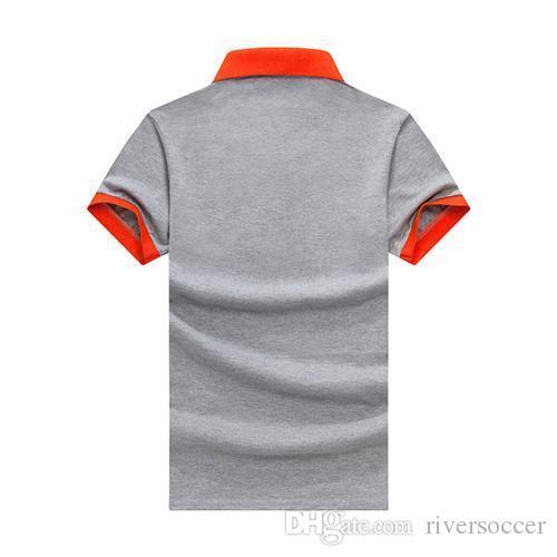 Esecuzione di collo T-shirt bavero uomini alla moda di manica corta ad asciugatura rapida rotonda a maniche corte WO-24