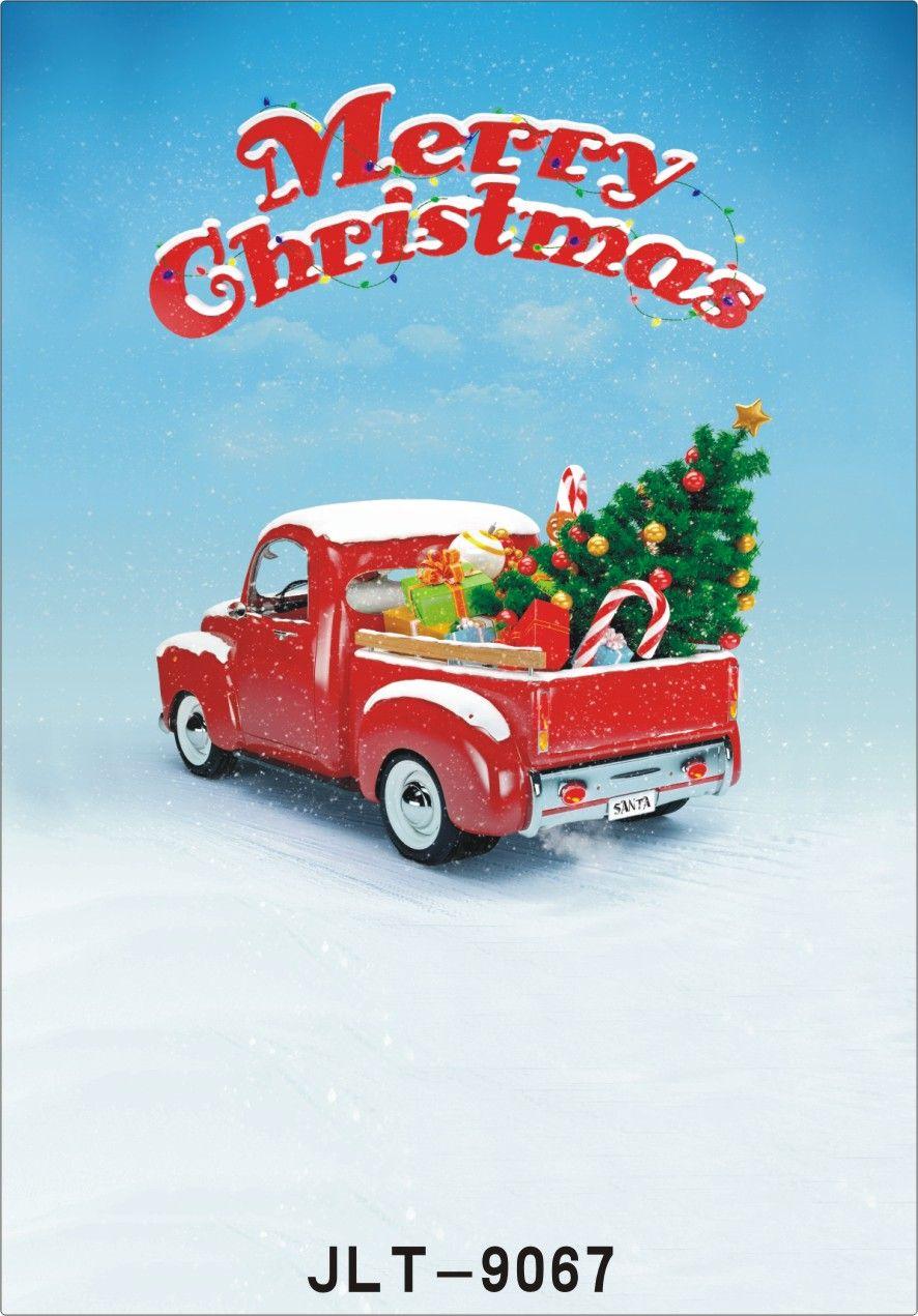 Vinyl Custom Photography Backdrops Prop digital printed Vertical Christmas day theme Photo Studio Background JLT-9067