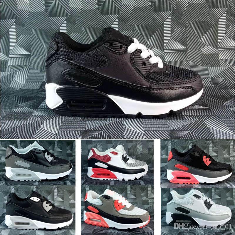 2019 الجملة 90 الأطفال الاحذية صبي فتاة الصغار الرياضة رياضة حذاء حجم 28-35