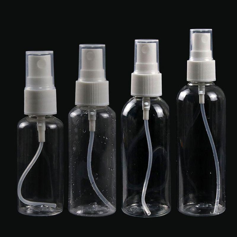 30 ml 50 ml 60 ml 100 ml 120 ml de plástico transparente atomizador del perfume Vacío Botella del aerosol puede rellenar con bomba de fardos En cosmética Alcohol Embalaje