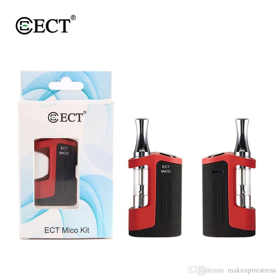 ECT Mico Vaporizer Pen Cartridges Vape Mod Kits 500mah Vape Battery 0.5ml Ceramic Coil e cigarettes Tanks Atomizer Starter Kit