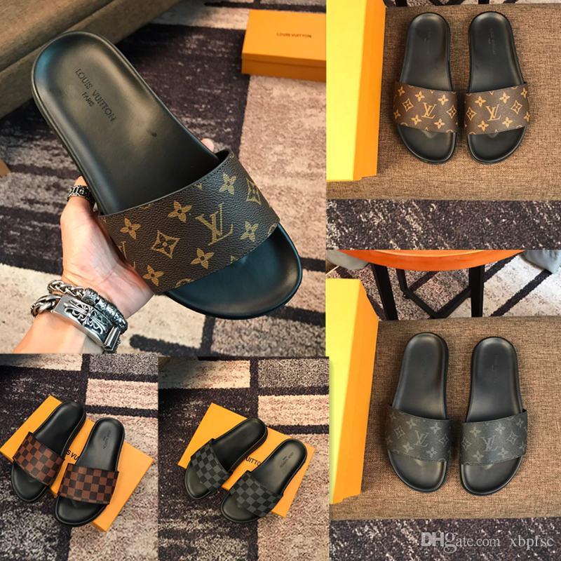 الرجال مصمم رخيصة الكلاسيكية النعال كليب قدم أسلوب الآخر أحذية النمط الأوروبي العلامة التجارية الصنادل والنعال حجم 38 ~ 45 الشحن مجانا