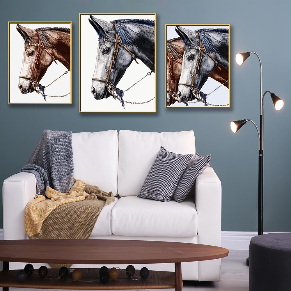 Modern Two Horses Canvas Art Painting Picture Canvas Painting For Living Room Home Decors With You