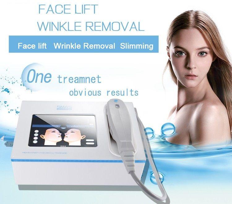 sökücü 5 kartuşları ile SMAS kaldırma vücut sliming kırışıklık giderici HIFU ultrason yüz germe cilt sıkma makinesi çift çene