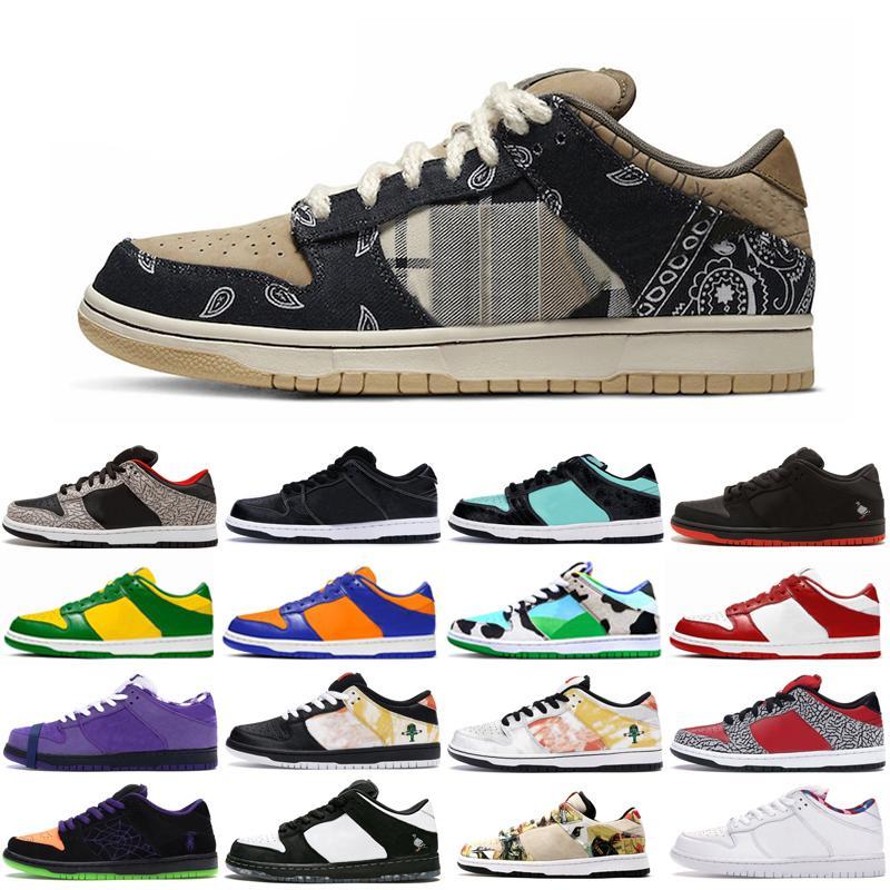 2020 أحذية دونك مكتنزة Dunky كنتاكي سكيت منصة سيراكيوز رجل إمرأة حذاء رياضة Raygun اسمنت أبيض الرياضة المدربين Chaussures
