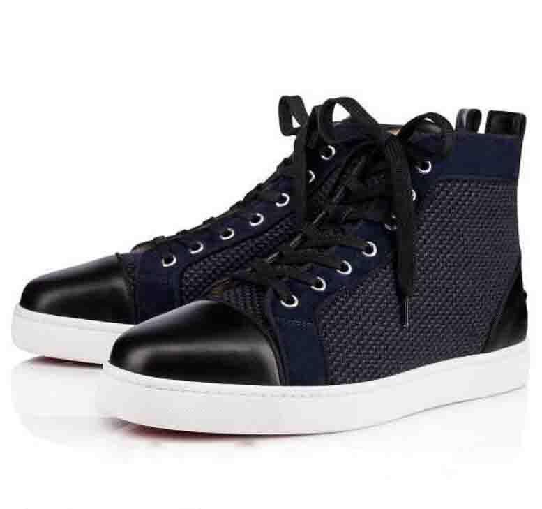 2020 Nom de la marque Red Sneakers fond pour les hommes, Chaussures Femmes Rouge Soles Mesh Casual chaussures de soirée de mariage sans clouté Baskets montantes CS01